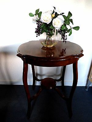 Antique Edwardian period occasional tier side table