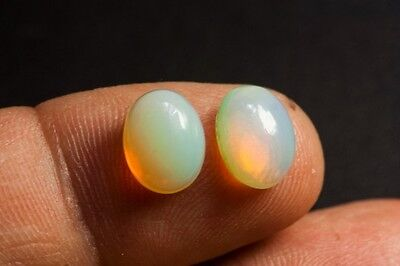 OPAL NATURAL MINED STONES x 2  TOTAL 2.08ct