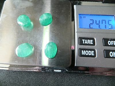 NATURAL MINED EMERALD x 4 STONES TOTAL 24Ct