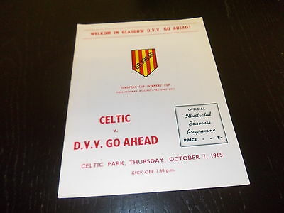 Celtic v DVV Go Ahead  7th Oct 1965  European Cup Winners Cup