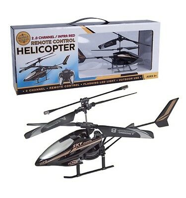 Brand New Global Gizmos Infrared Remote Control 2-Channel Helicopter - Black