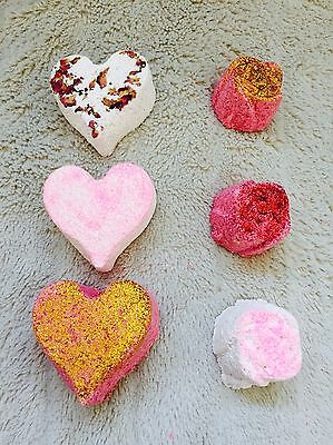 Rose Glitter Bath Bombs Box Of 6 Comes Gift Wrapped