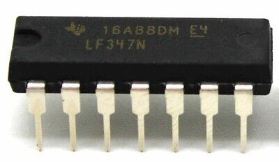 10PCS Texas Instruments LF347N LF347 Quad Operational Amplifiers DIP-8 - New IC