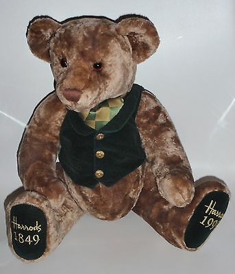 """Harrods 150 Years Anniversary 1849 -1999 Collectable 13"""" Teddy Bear VGC"""