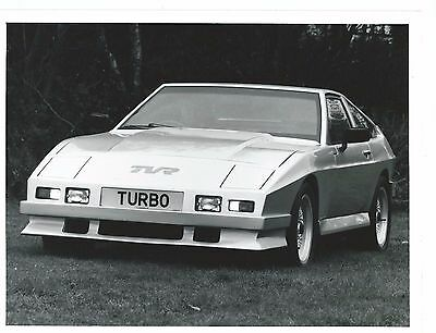 TVR TASMIN TURBO BLACK & WHITE PHOTO 8'' x 6'' PUBLICITY PHOTO