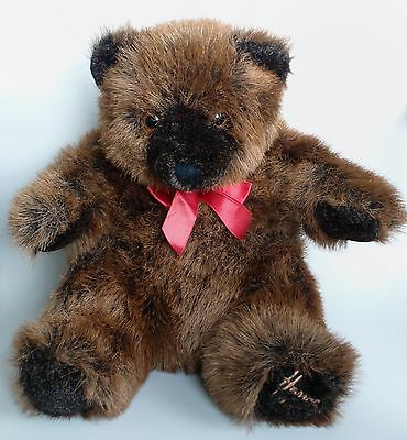 """Harrods 1992 Foot Dated 13"""" Annual New England Christmas Teddy Grizzly Bear VGC"""