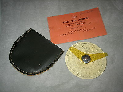 Antique 30's Slide Rule Midget Circular Pouch Booklet