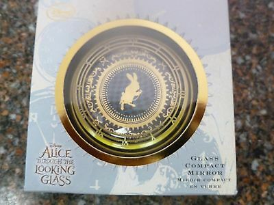 Disney Store Alice Through the Looking Glass Compact Mirror White Rabbit NEW