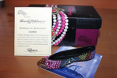 CANTON Beverly Feldman Lorraine Vail JUST THE RIGHT SHOE in Box JTRS with COA