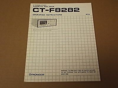 Pioneer CT-8282 Tape Deck Original Operating Instructions Owners Manual
