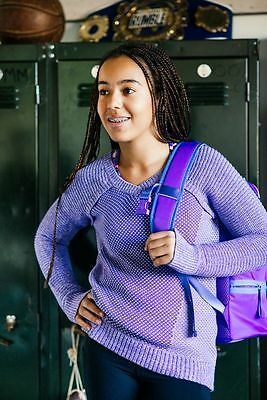 Ivivva by LULULEMON Girls Busy To Be Cozy Pullover Sweater Purple 8, 14 NWT $64