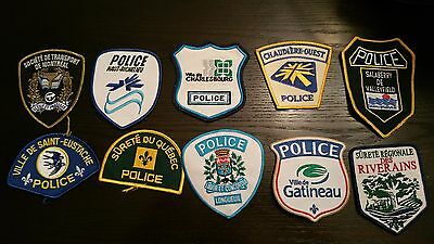 QC Quebec Public Safety Police Dept Obsolete Patches lot of 10 Mix #10XOP