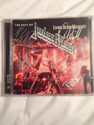 The Best Of Judas Priest Cd Autographed Auto By Entire Band Rob Halford