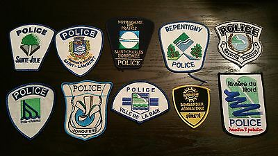 QC Quebec Public Safety Police Dept Obsolete Patches lot of 10 Mix #10HUL