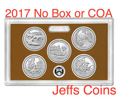 2017 S US Mint Proof Set ATB 5 Clad Quarters NO BorC Effigy - George Rogers 17ap