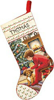 "18"" Long 14 Count - Waiting For Santa Stocking Counted Cross Stitch Kit"