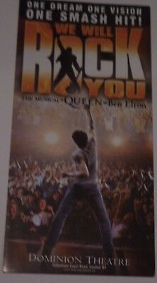 WE WILL ROCK YOU show LONDON Dominion Theatre original FLYER Queen BRIAN MAY