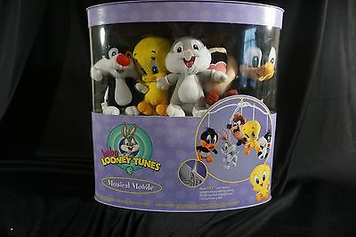 Baby Looney Tunes Baby Crib Mounting Musical Mobile Carrusel Warner Brothers NEW