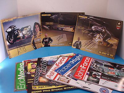 Lot of 16 Authentic Autograph Hero Cards NHRA NASCAR Dragster Pro Stock etc