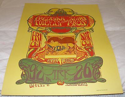 Original And Beautiful Bob Masse Ark  Fillmore Family Dog Era Poster