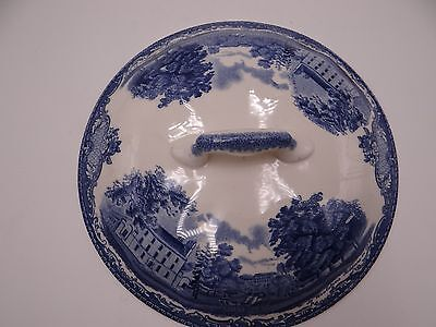 Johnson Brothers OLD BRITAIN CASTLES Blue Round Vegetable Bowl Lid