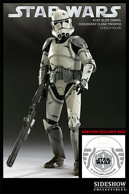 "SIDESHOW_Star Wars_41st Elite Corps CORUSCANT CLONE TROOPER 12"" figure_Exclusive"