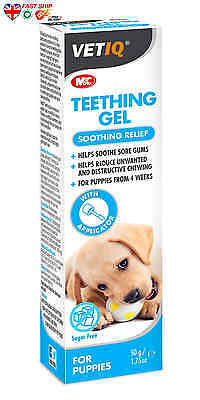 VetIQ Teething Gel for puppies 50g soothes and calms sore gums FAST Ship UK BUY