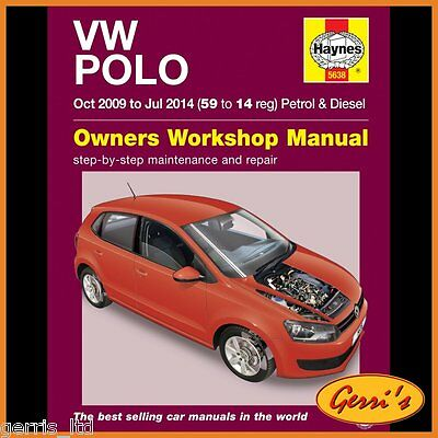 5638 Haynes VW Polo Oct 2009 - Jul 2014 (59 to 14) Service Manual