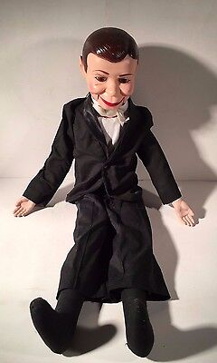 Vintage 1977 Juro Novelty CO. Charlie McCarthy Dummy Ventriloquist Puppet Doll