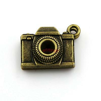 10x Camera Shape Charm Pendant 21mm Jewelry Findings