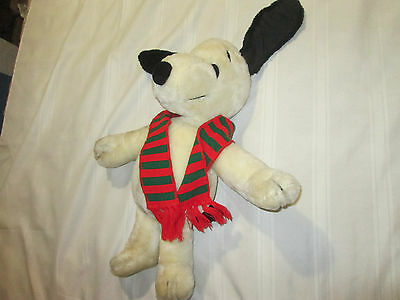 "Snoopy 20"" Vintage 1968 Plush with Scarf Stuffed Animal Peanuts Charlie Brown"