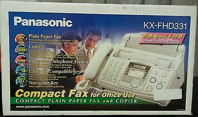 NEW! Panasonic Plain Paper Fax and Copier 50-Sheet Fax  ADF 4 PPM KX-FHD331 WOW!