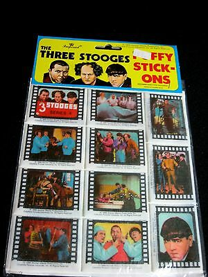 NOS * 1988 puffy stick-ons THREE STOOGES 11 pieces  *free US ship