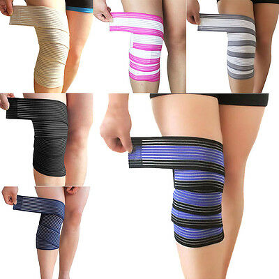 Elastic Knee Support Band Wrap Protect Bandage Knee Cap For Outdoor Sports