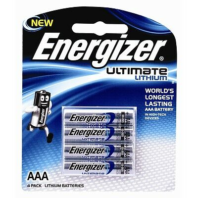 Energizer Ultimate Lithium AAA Battery - 4 Pack