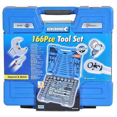 "Kincrome 166 Piece 1/4"" 3/8"" 1/2"" Drive Socket And Spanner Set"