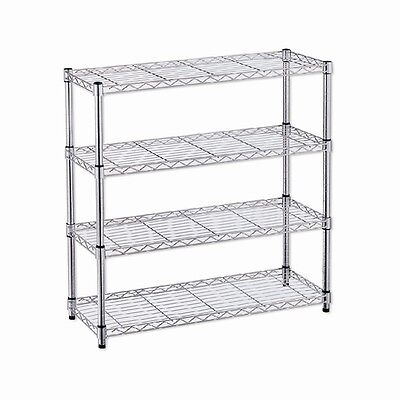 Romak 91 x 89 x 29cm 4 Tier Chrome Wire Rack Shoe