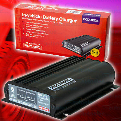Redarc Bcdc1225 25A Dc Dual Battery System Charger With Mppt Solar Regulator New