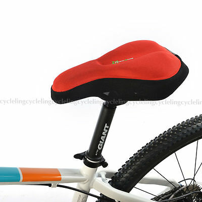 RockBros Cycling Bike Pad Seat Saddle Cover Soft Bicycle Cushion Red