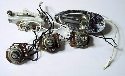 1979 Fender Stratocaster Wiring Harness Pots Switch & Jack USA ORG! CTS 1980 CRL