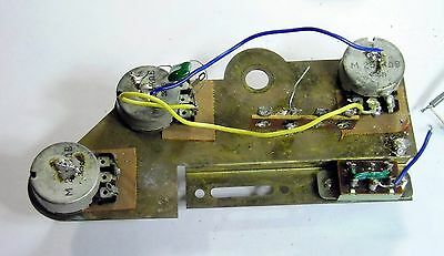 1972 Ibanez 2372 Wiring Harness & Shielding Plate & Pots & Switch- PARTIAL 2373