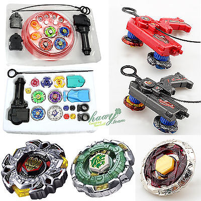 Beyblade 4D Metal Master Fusion Top Rapidity Fight Launcher Grip Set Toy Gift