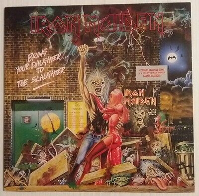 IRON MAIDEN BRING YOUR DAUGHTER TO THE SLAUGHTER 12IN SINGLE, Banner & Calendar