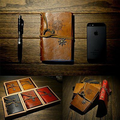 Brown rétro vintage Pirate Diary Journal Bloc-notes Notebook carnet Cahiers