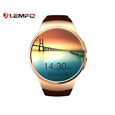 Lemfo KW18 Bluetooth Wireless SIM Reloj Inteligente Phone Para IOS Android Oro