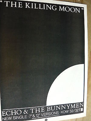 Echo & The Bunnymen - Magazine Cutting (Full Page Advert) (Ref Tg)