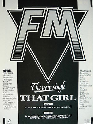 Fm - Magazine Cutting (Full Page Advert) (Ref Ka1)