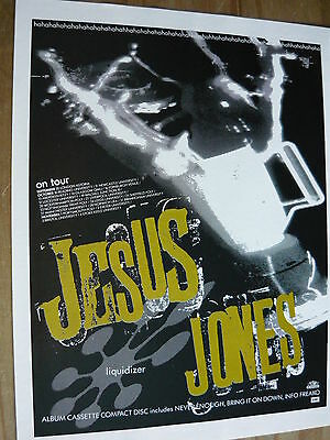 Jesus Jones - Magazine Cutting (Full Page Advert) (Ref Sn)
