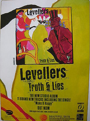Levellers - Magazine Cutting (Full Page Advert) (Ref Sc1)