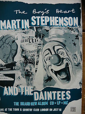 Martin Stephenson & The Daintees - Magazine Cutting (Full Page Advert) (Ref Sh)